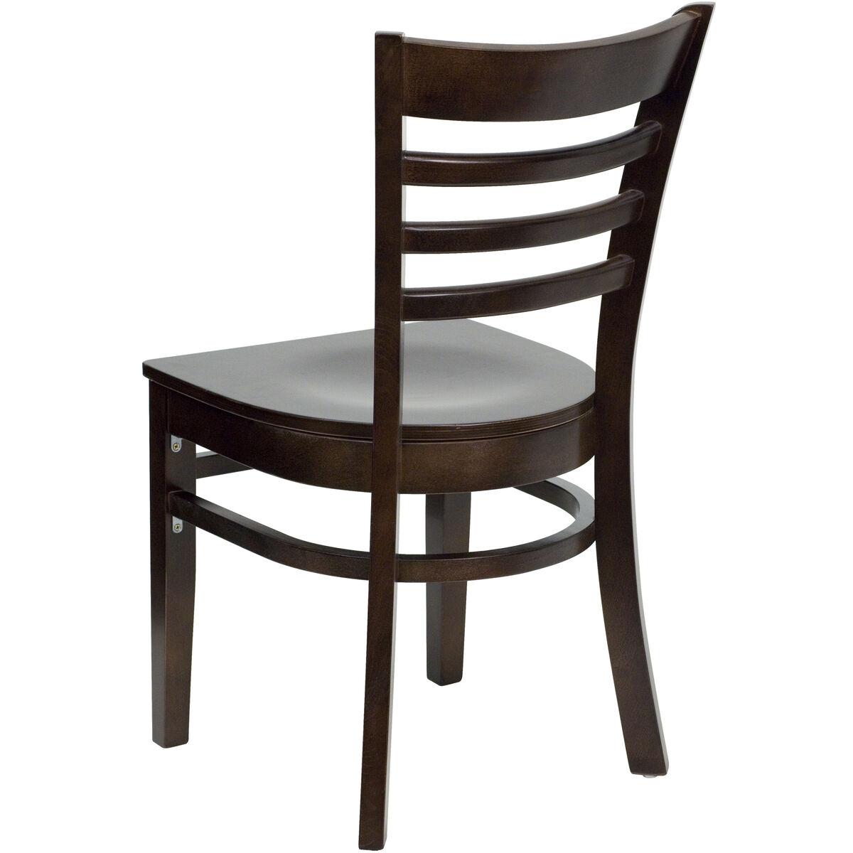 Walnut wood dining chair bfdh ww tdr