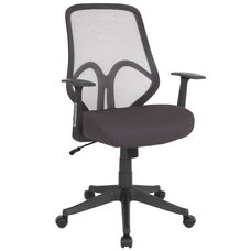 Salerno Series High Back Dark Gray Mesh Chair with Arms