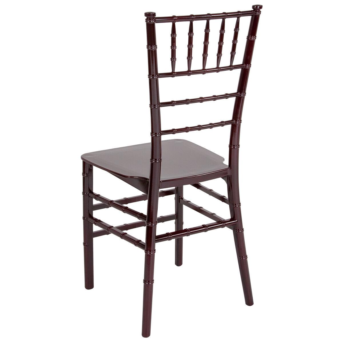 Hercules series mahogany resin stacking chiavari chair