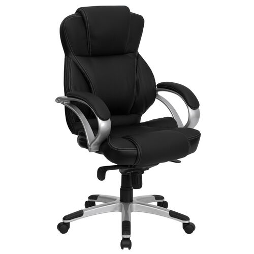 Our High Back Black LeatherSoft Contemporary Executive Swivel Ergonomic Office Chair is on sale now.