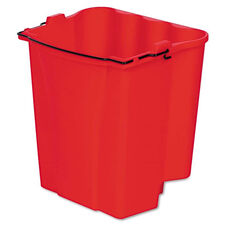 Rubbermaid® Commercial Dirty Water Bucket for Wavebrake Bucket/Wringer - 18qt - Red