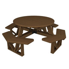 POLYWOOD® Commercial Collection Park Octagon Table - Teak