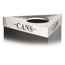 Safco® Trifecta Waste Receptacle Lid - Laser Cut