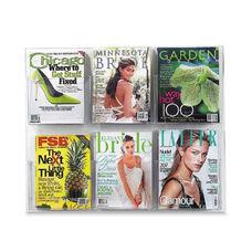 Safco Magazine/Pamphlet Display -6 Pockets -28 3/4