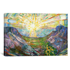 The Sun, 1916 #2 by Edvard Munch Gallery Wrapped Canvas Artwork