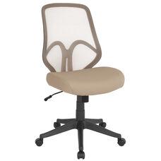 Salerno Series High Back Light Brown Mesh Chair