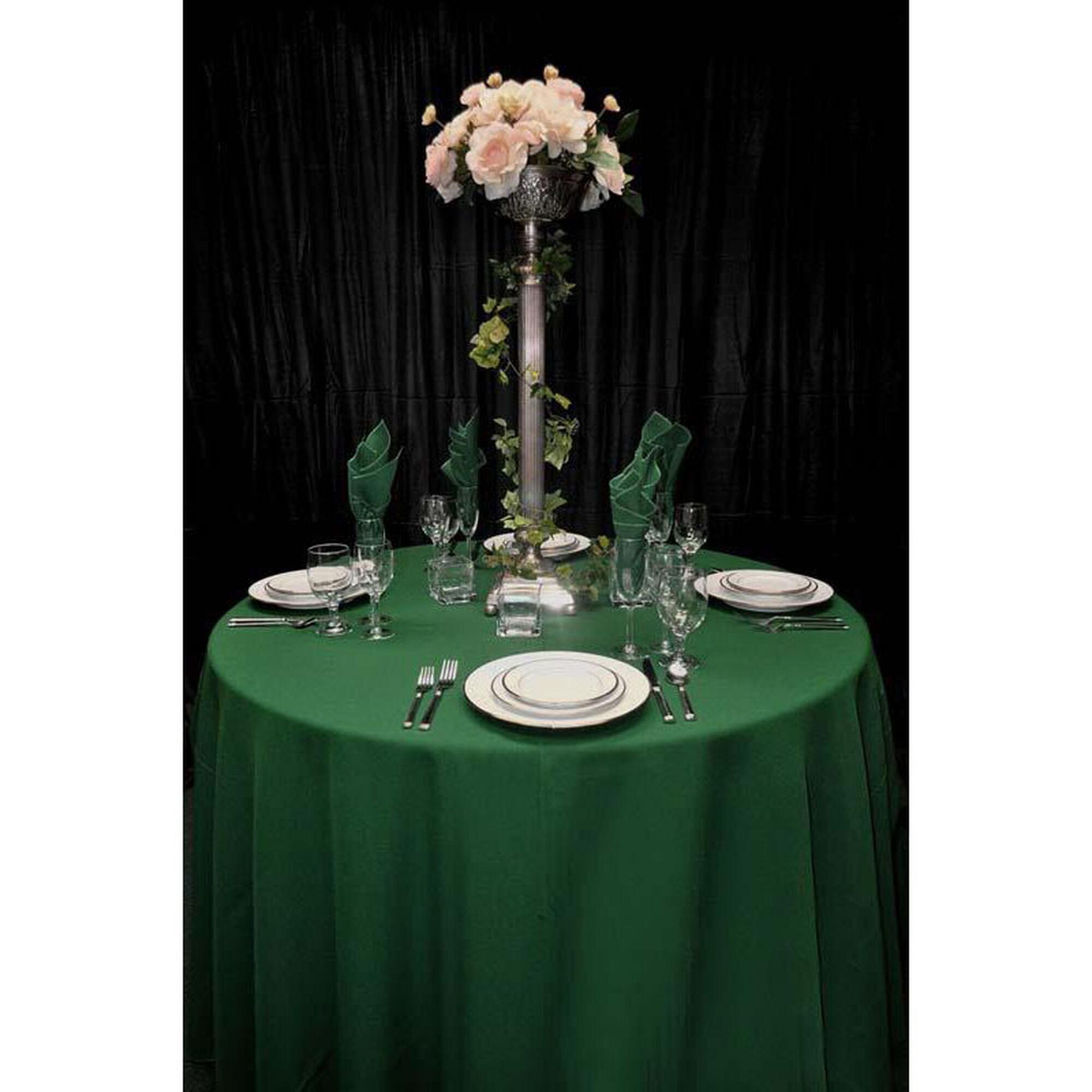 Hunter Green Rectangular Tablecloth 701115