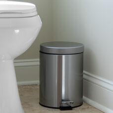 Stainless Steel Fingerprint Resistant Soft Close, Step Trash Can