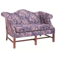 4210 Loveseat w/ Chippendale Legs, Upholstered Spring Back & Seat - Grade 1