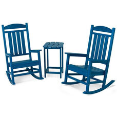 POLYWOOD® Presidential Rocker 3-Piece Set - Vibrant Pacific Blue