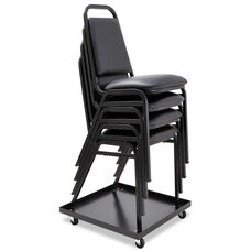 Alera® Stacking Chair Dolly - 22-1/2w x 22-1/2d - Black