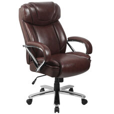 HERCULES Series Big & Tall 500 lb. Rated Brown Leather Executive Swivel Ergonomic Office Chair with Extra Wide Seat