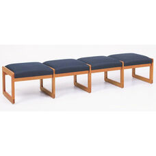 Classic Series 4 Seat Backless Bench with Sled Base