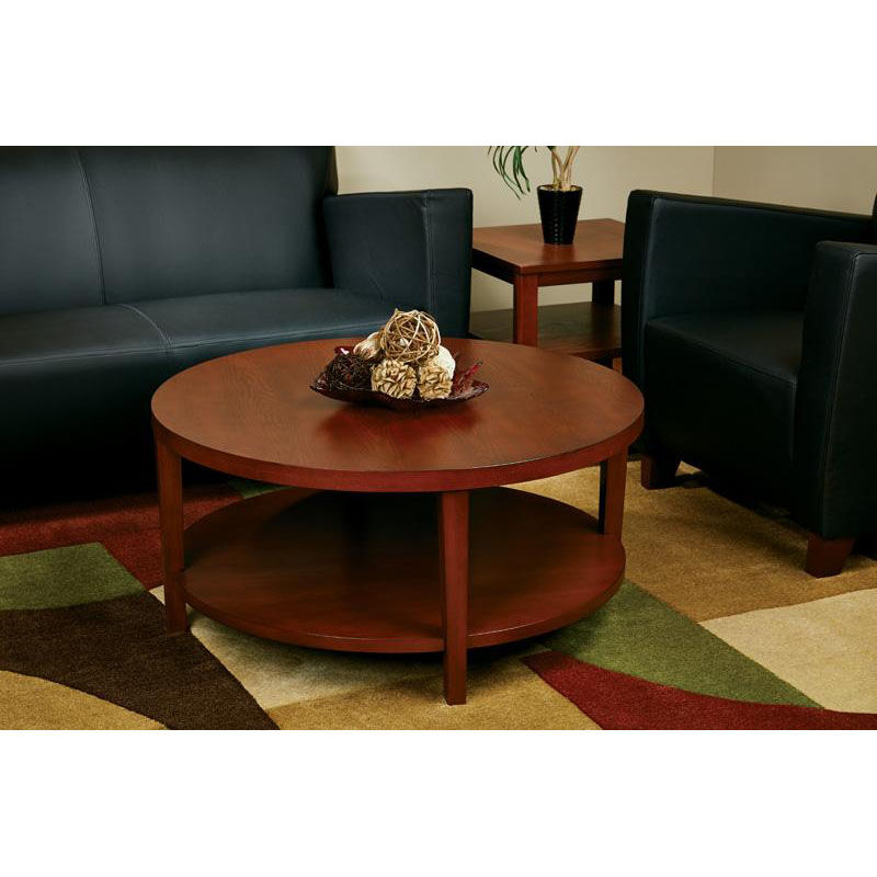 Exceptionnel ... Our Ave Six Merge 36u0027u0027 Round Coffee Table With Solid Wood Legs   Cherry