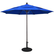 11 Ft. Market Umbrella with Pulley Lift and Double Wind Vent - Bronze Aluminum Pole