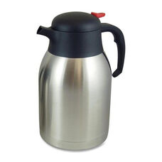 Genuine Joe Everyday Vacuum Carafe - 2.0L. - Stainless Steel