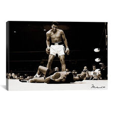 Muhammad Ali Vs. Sonny Liston, 1965 by Unknown Artist Gallery Wrapped Canvas Artwork