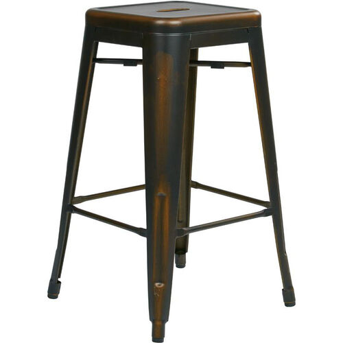 Set Of 2 Copper Metal Barstool Brw3026a2 Ac