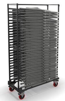 Event Series Folding Chair Stack Cart for 5000FC - Black