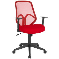 Salerno Series High Back Red Mesh Office Chair with Arms