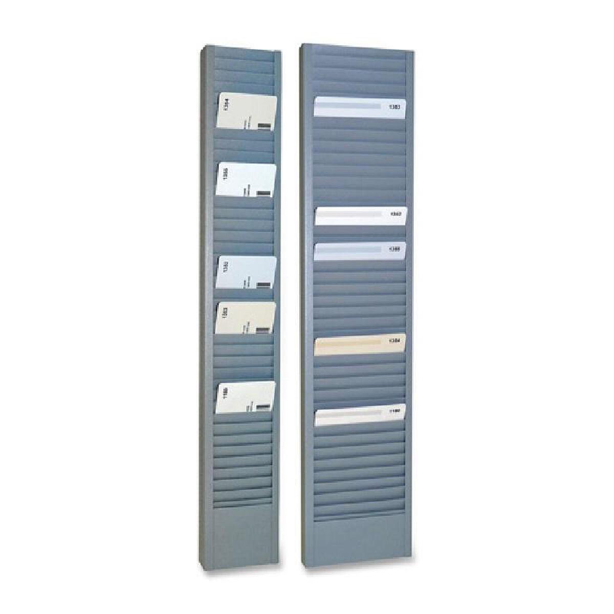 our steelmaster vertical swipe card rack 187 height x 29 width - Card Rack