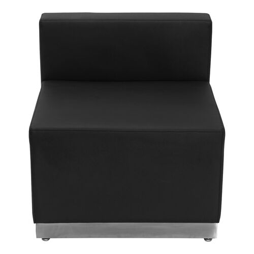 Our HERCULES Alon Series Black LeatherSoft Chair with Brushed Stainless Steel Base is on sale now.