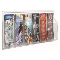 Clear-Vu Pamphlet Display - 6 Pamphlets