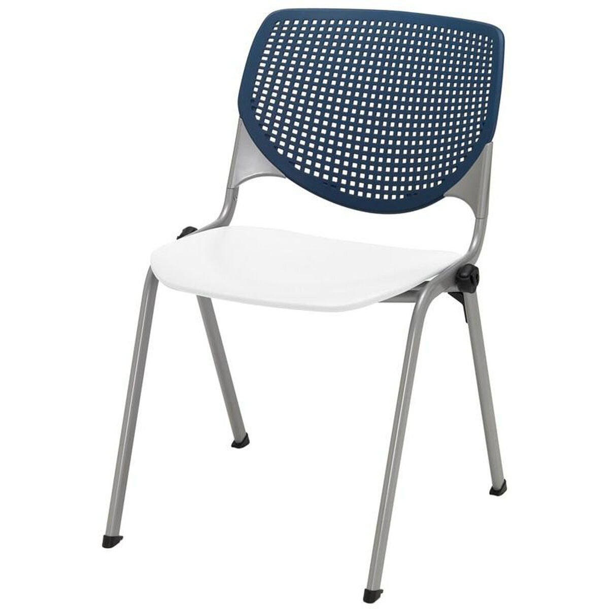 kool furniture. Our 2300 KOOL Series Stacking Poly Armless Chair With Navy Perforated  Back And White Seat Is Kool Furniture
