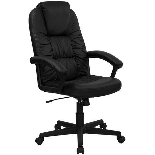 Our High Back Black LeatherSoft Executive Swivel Office Chair with Arms is on sale now.