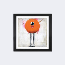 Eye Spy by Famous When Dead Artwork on Fine Art Paper with Black Matte Hardwood Frame - 24