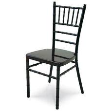 Chiavari 36''H Aluminum Frame Stackable Chair - Black