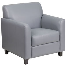 HERCULES Diplomat Series Gray Leather Chair
