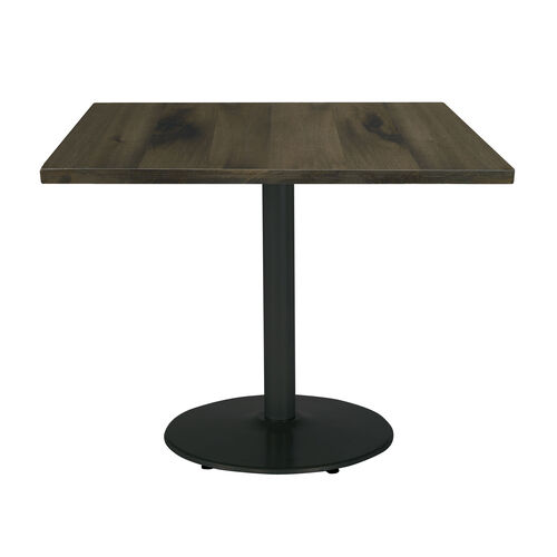 "Our Urban Loft 30"" Square Vintage Wood Top Table with Round Black Base - Barnwood is on sale now."