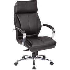 Pro-Line II Deluxe High Back Executive Bonded Leather Office Chair - Black