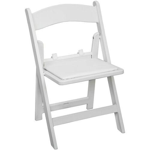 Advantage Kids White Resin Folding Chair