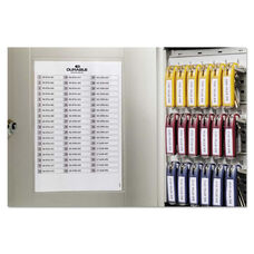 Durable® Locking Key Cabinet - 54-Key - Brushed Aluminum - Silver - 11 3/4 x 4 5/8 x 11