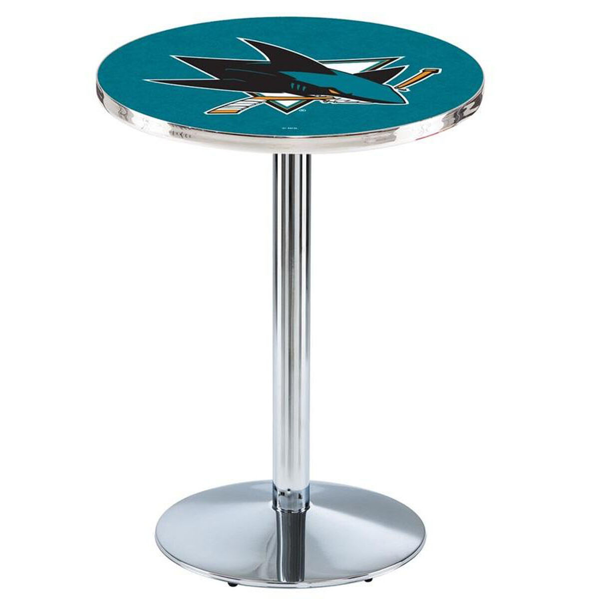 Nhl Chrome Finish Pub Table L214c42sjshar