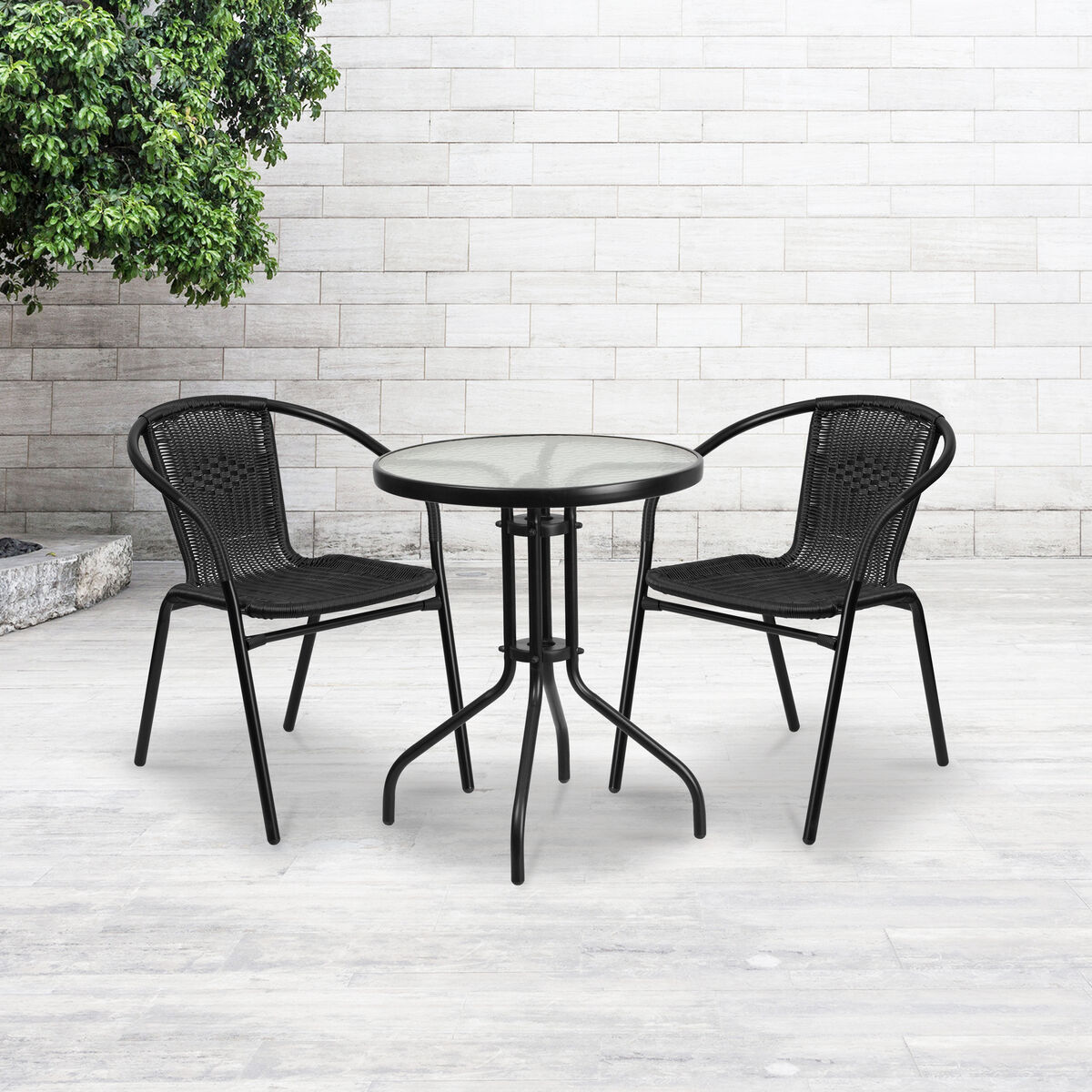 Black Rattan Stack Chair Tlh 037 Bk Gg