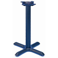 TB 104 Cast Iron Pub Table Base with Column and 22'' X - Shaped Base - Black