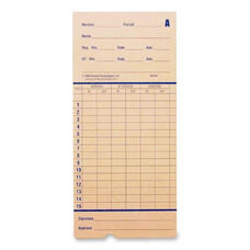 Pyramid Time Systems Time Cards For Pyramid 2600 - Pack Of 100