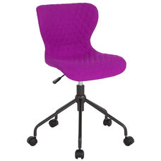 Somerset Home and Office Upholstered Task Chair in Purple Fabric