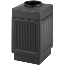 Canmeleon™ 38 Gallon Indoor or Outdoor Recessed Panels Top Open Receptacle - Black