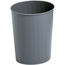 Round 23.50 Qt Puncture Resistant Wastebasket with a Durable Powder Coat Finish - Set of Six - Charcoal