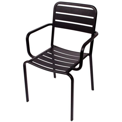 Our Vista Stackable Outdoor Aluminum Arm Chair - Black is on sale now.