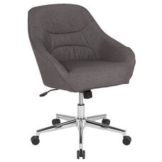Marseille Home and Office Upholstered Mid-Back Chair in Dark Gray Fabric
