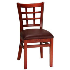 Mahogany Window Back Wood Chair