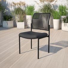 Comfort Black Mesh Stackable Steel Side Chair