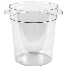 4 Quart Round Food Storage Container in Clear Polycarbonate