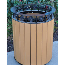 Jamestown Recycled Plastic and Steel 20 Gallon Receptacle with Liner