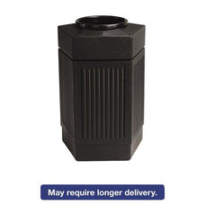 Safco® Canmeleon Indoor/Outdoor Receptacle - Pentagon - Polyethylene - 30gal - Black